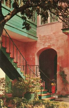 Maison Montegut Courtyard - New Orleans,Louisiana.Find many more vintage postcards, retro postcards and old post cards. We are postcard dealers Down In New Orleans, Visit New Orleans, New Orleans Louisiana, Louisiana Usa, Louisiana Gumbo, Louisiana Recipes, Vacation Trips, Vacation Spots, New Orleans Architecture