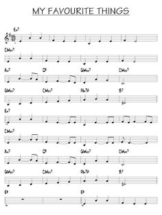 Partitura de My favorite thing | Partituras y pistas para saxo | Sheet music and Play Along for sax