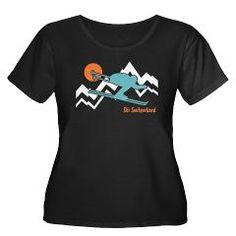 Ski Switzerland Women's Plus Size Scoop Neck Dark> Ski Switzerland t-shirt> Be the tees