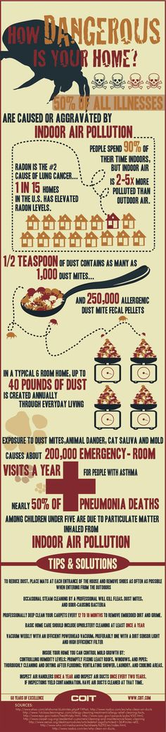How Dangerous Is Your home? #Infographic #Dust Keep your home clean and safe and healthy