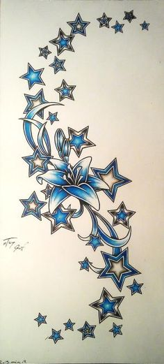 star tattoo designs - Google Search by lesa