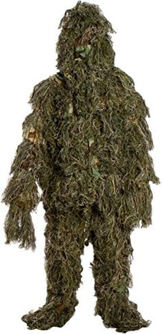 Hunting- Ghillie Suit 3 Piece Set - One Size Fits All Teens By Modern Warrior…