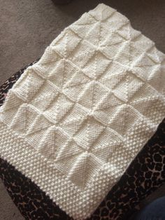 Windmill Blanket Knitting Pattern PDF Worsted yarn Baby