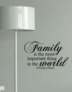 Family Is The Most Important Thing In The World Vinyl Wall Decal. $28.50, via Etsy.