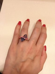 Bi color spinels ring with pink sapphire