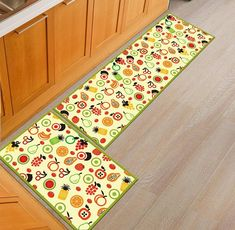 AmazonSmile: 1 Pcs AiseBeau Set of 2 Comfort Kitchen Rug Comfort Kitchen Floor Mat Non-Slip Kitchen Mat Soft Kitchen Runner Bedside Runner Entrance Runner Door Mat Mashine Washable 23.6X35.4 IN and 23.6X73 IN: Kitchen & Dining