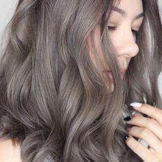 Ash brown/grey hair
