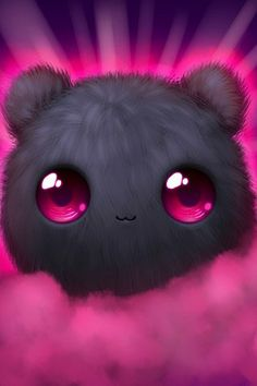 I absolutely love this adorable fluff-ball. I could stare at it all day before I go to work. Cute Disney Wallpaper, Cute Cartoon Wallpapers, Kawaii Wallpaper, Cute Wallpaper Backgrounds, Wallpaper Desktop, Girl Wallpaper, Wallpaper Quotes, Cute Animal Drawings, Kawaii Drawings