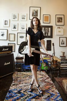 Shop Odd Molly clothes online from the official Odd Molly online shop. Largest selection of Odd Molly cardigans and dresses. Odd Molly, Kemp Muhl, Sean Lennon, Wow Photo, Instruments, Guitar Girl, Guitar Room, Guitar Chords, Female Guitarist
