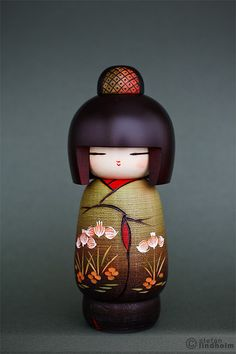 Brown Haired Kokeshi