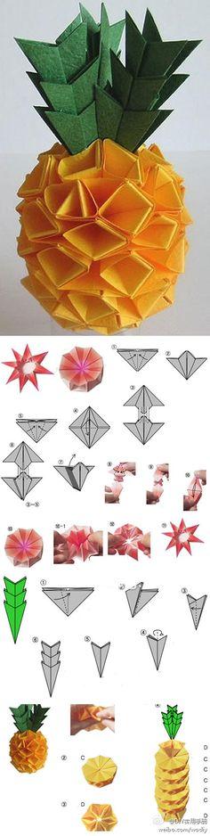 Origami 3D Pineapple