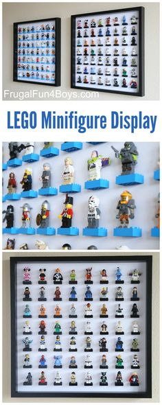 IKEA Frame LEGO Minifigure Display and Storage - Each frame holds 56 LEGO guys…