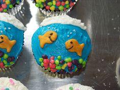 fishy cupcakes