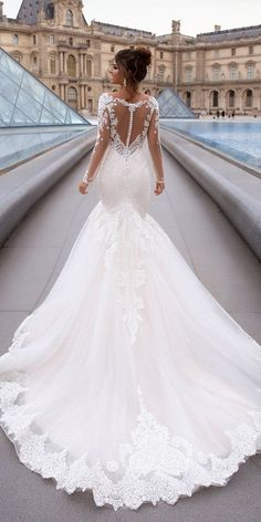 Wedding Dresses Ball Gown Crystals 27 Stunning Trend: Tattoo Effect Wedding Dresses tattoo effect wedding dresses fit and flare with illusion long sleeves oksana mukha Stunning Wedding Dresses, Black Wedding Dresses, Wedding Dress Sleeves, Chiffon, Fit And Flare Wedding Dress, Wedding Dress Shopping, Ball Dresses, Wedding Bride, Dream Wedding