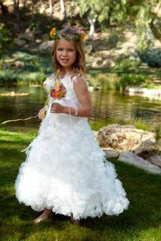 beautiful flower girl & dress
