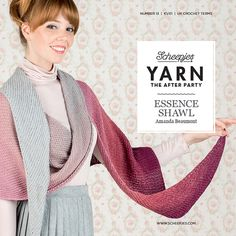 The gorgeous Essence shawl by Amanda Beaumont is made in Scheepjes Whirl. One of many designs published by Scheepjes yarns in their 'YARN - The After Party' booklets released with a new design every 2 weeks. Also available in print form Scheepjes Stockists.