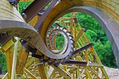 10 Thrilling New Roller Coasters for 2013 Outlaw Run, Silver Dollar City – another view – crazy good coaster! New Roller Coaster, Roller Coasters, Silver Dollar City, Stairways, Rocky Mountains, Travel Usa, Fair Grounds, Explore, Park