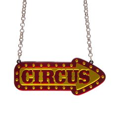 Sugar & Vice Circus Sign Necklace / in stock