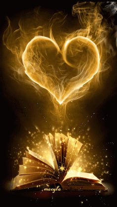 The perfect Book Heart Fantasy Animated GIF for your conversation. Discover and Share the best GIFs on Tenor. Coeur Gif, Corazones Gif, Gif Animé, Animated Gif, Animated Heart, I Love Books, Great Books, Belle Photo, Holy Spirit