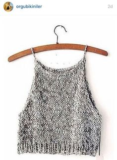 Make the Rebel Cami, a sassy but sweet drawstring halter top crochet pattern from TL Yarn Crafts. Challenge your crochet stills with unique shaping and texture Mode Crochet, Crochet Top, Crochet Pattern, Crochet Clothes, Diy Clothes, Casual Outfits, Cute Outfits, Diy Kleidung, Diy Vetement