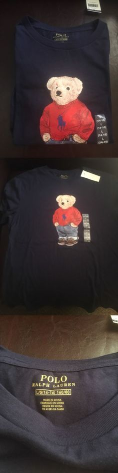 Tops Shirts and T-Shirts 175521: Polo Bear By Ralph Lauren T Shirt Boys Kids Big Pony Flag Bear Sz Large 14-16 -> BUY IT NOW ONLY: $36.99 on eBay!