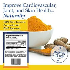 #1 Turmeric Curcumin – Most Potent Turmeric for Joint Pain – 100% Pure & Organic Turmeric Curcumin – 60 Day Supply //Price: $14.99 & FREE Shipping //