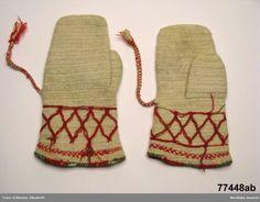 Swedish needlebound mittens