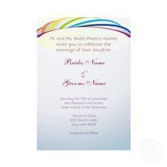 Colors of the Rainbow Wedding Invitation SAMPLE by NimbiDesign
