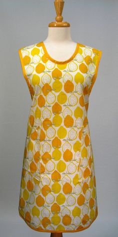 Classic ALL DAY Cover Up Womans Full Apron. $27.50, via Etsy.