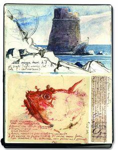 art journal, sketchbook travel, appreci art, sketches travel journal, stefano faravelli, art diaries, artist journal, architectur sketch, sketch journal
