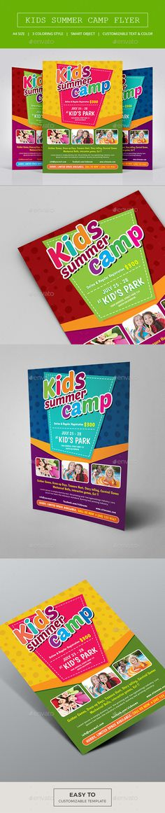 Kids Summer Camp -Kids Summer Camp Flyer Template, for Kids Summer Activity, Junior School, Play Group, summer or spring camps, event, sports, school activities, family day, community or any of use. http://graphicriver.net/item/kids-summer-camp/15429855?ref=themedevisers