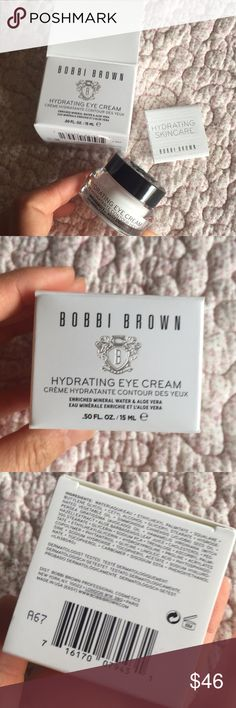 Bobbi brown hydrating eye cream Full size. Never opened to keep fresh. Authentic from Bobbi brown website. For all skin type. No trades Bobbi Brown Makeup