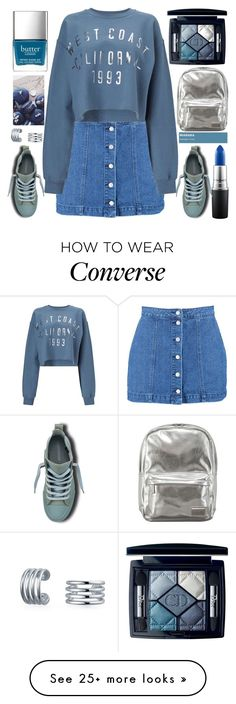 """""""Pantone"""" by grozdana-v on Polyvore featuring Boohoo, MAC Cosmetics, Christian Dior, Miss Selfridge, Bling Jewelry and Converse"""