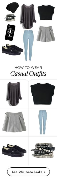"""""""Casual"""" by elliebelled on Polyvore featuring River Island, Vans, H&M, Chicnova Fashion and adidas Originals"""
