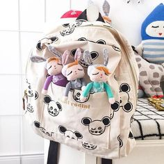 42943595ab2e 2016 New Spring Summer Mini Rodini Bag For Girls And Boys Baby Backpack  Children Cut Panda School Bags