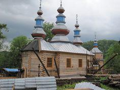 Wisłok Wielki (RUE: Выслик), Poland's Saint Onuphrius Greek Catholic Church, built in 1853 Church Architecture, My Heritage, Eastern Europe, Poland, Catholic, Taj Mahal, Exterior, Iglesias, Traditional