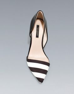 BLACK AND WHITE COMBINATION HEELS - Shoes - Woman - New collection - ZARA