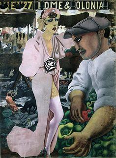 Saturday Market (1932) by Edward Burra (British 1905-1976)