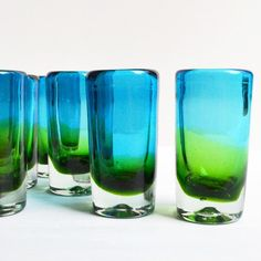 Blown Glass Shot Glasses - Set of 6 – Dogwood Hill Gifts