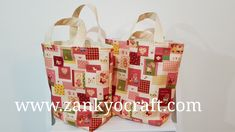 Patchwork Mini Tote Bags for girls by Zankyo Craft #madebyastressednurse