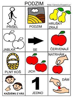 Pro Šíšu: Básničky i pro autíky Pictogram, Montessori, Playing Cards, Education, Logos, Children, Autism, Kids, Playing Card Games