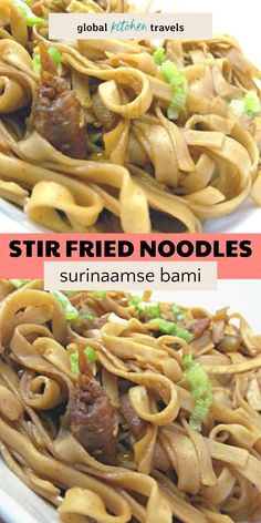 Suriname Style Bami Goreng has the same flavors you expect from Indonesian Food as this recipe comes from the Indonesian community of Suriname. Quick and Easy, these delicious noodles are sweet, spicy and smoky all at the same time. #noodles Suriname Recipes    Surinaamse Food Stir Fry Noodles, Pasta Noodles, Bami Recipe, Easy Stir Fry, Coconut Chutney, National Dish, Old Recipes, Indonesian Food