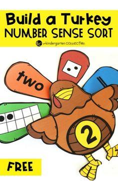 Build a Turkey Number Sense Activity