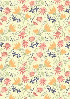 Autumn Floral Pattern Art Print