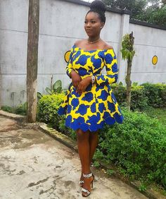 Ankara Short Dress Styles are now in Vogue for African Women - WearitAfrica African Dresses For Women, African Print Dresses, African Attire, African Wear, African Women, African Prints, African Style, African Fashion Ankara, African Print Fashion