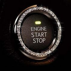Crystal Rhinestone Car Bling Ring Sticker Emblem Auto Start Engine Ignition Key  Button Bling Unique Luxury Gift For Her By Bling Car Decor TM Silver >>> You can find out more details at the link of the image.Note:It is affiliate link to Amazon.