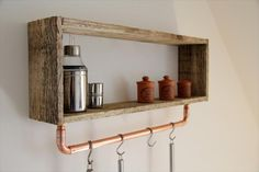Pallet Shelf With Pipe Tool Rack | Pallet Furniture DIY