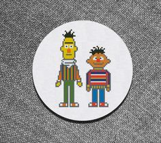 Cross Stitch Pattern Bert and Ernie Muppets Instant by Kiokiz