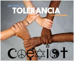 Cartel: día para la tolerancia (16 de noviembre) Fuente: http://necesitodetodos.org/wp-content/uploads/2012/11/dia-para-la-tolerancia-necesitodetodos.jpg