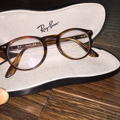Ray-Ban frames Used Rx glasses. Brownish, orangey tortoise shell sort of. Beautiful! Will miss them!! Don't need them anymore  prescription: RIGHT EYE -300 and LEFT EYE -275 Ray-Ban Accessories